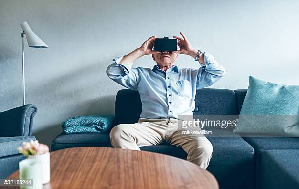 Virtual reality experience at home with VR glasses