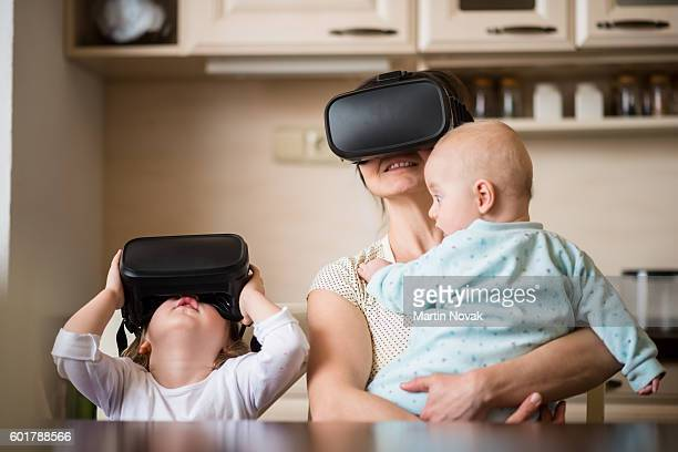 Virtual reality - family likes to have fun