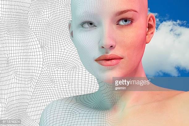Portrait de femme de réalité virtuelle