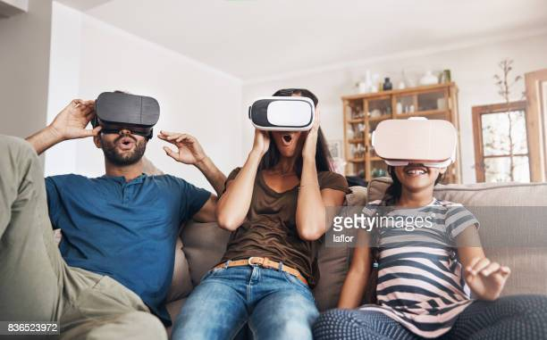 virtual reality fun for all ages - redoubtable film stock photos and pictures
