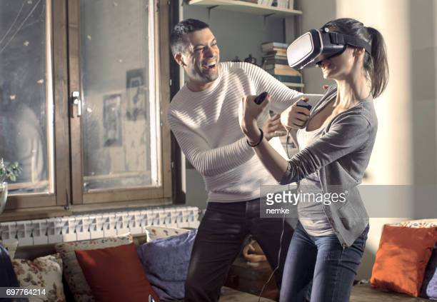 Virtual reality gamers