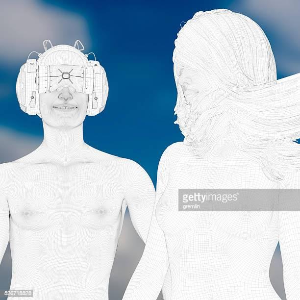 Virtuelle Realität Liebes-Erlebnis