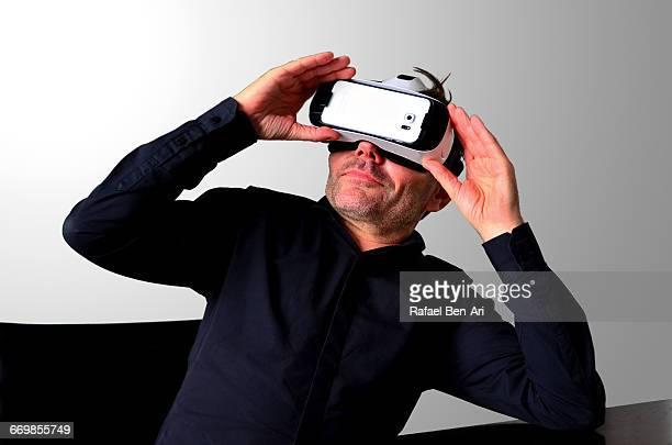 3D VR Virtual Reality Man