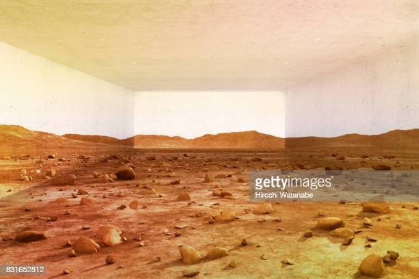 virtual reality. mars in the garage. - vanguardians stock pictures, royalty-free photos & images