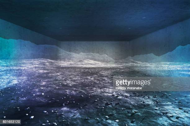 virtual reality. moon in the garage. - vanguardians stock pictures, royalty-free photos & images