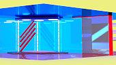 virtual tv news studio set background