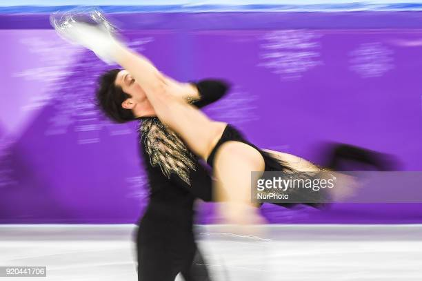 Virtue Tessa and Moir Scott of  Canada competing in free dance at Gangneung Ice Arena Gangneung South Korea on Feburary 19 2018