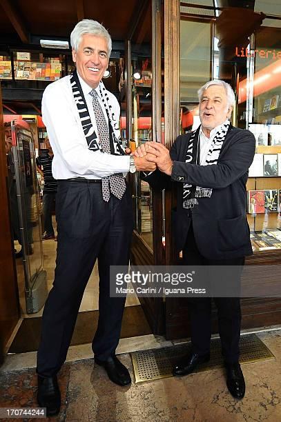 Virtus Bologna Vice President Renato Villalta attends a press conference to unveil Bruno Arrigoni as the new Sporting Director of Virtus...