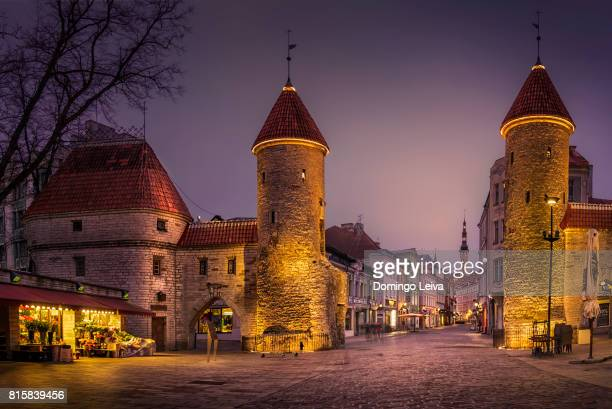viru gate in tallinn - estonia stock pictures, royalty-free photos & images