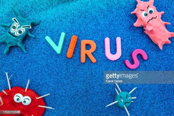 virus and bacterias concept - 粘土 ストックフォトと画像