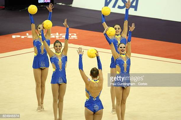 Visa Federation of International Gymnastics Annabelle Bartlett Georgina Cassar Jade Faulkner Francesca Fox Sarah Binding Lynne Hutchison and Louisa...