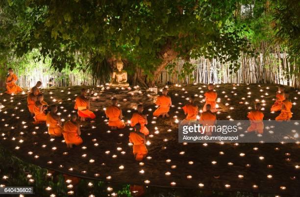 Visakha Puja Day at Wat Phan Tao temple, Chiangmai,Thailand