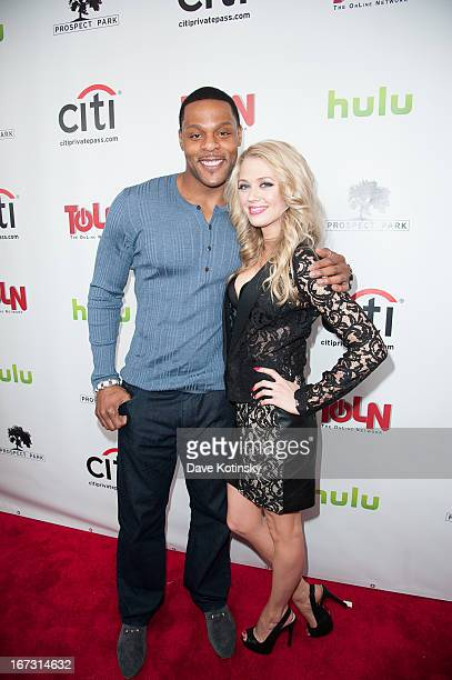 Visanthe Shiancoe and Brooke Newton attends the 'All My Children' 'One Life To Live' premiere at Jack H Skirball Center for the Performing Arts on...