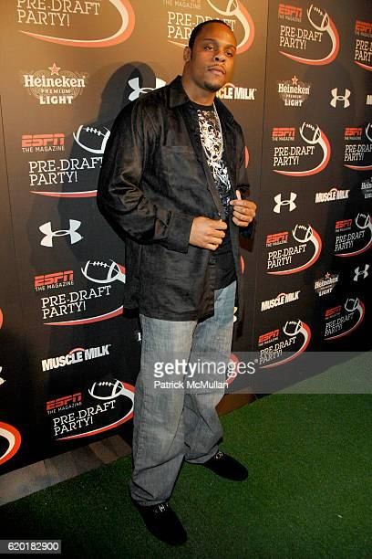 Visanthe Shiancoe attends ESPN The Magazine PreDraft Party at Touch on April 25 2008 in New York City