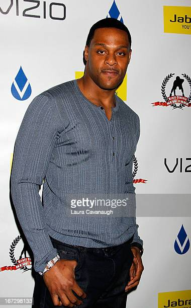 Visanthe Shiancoe attends the 2013 Celebrity NFL Draft Classic affair on April 23 2013 in New York City