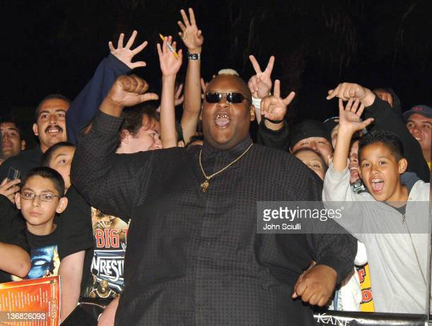 Viscera WWE Raw Superstar during 'See No Evil' Premiere Arrivals in Los Angeles California United States