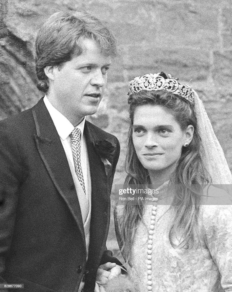 Royalty - Viscount Althorp Wedding Ceremony - St. Mary's Church : News Photo