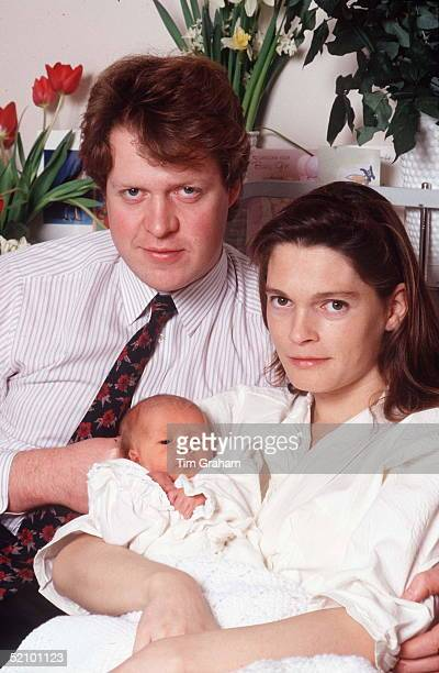 Viscount Althorp And His Wife Victoria With Their First Baby Daughter Kitty Eleanor Spencer At St Mary's Hospital Paddington London