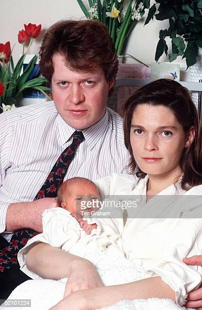 Viscount Althorp And His Wife Victoria With Their First Baby Daughter , Kitty Eleanor Spencer, At St Mary's Hospital, Paddington, London.