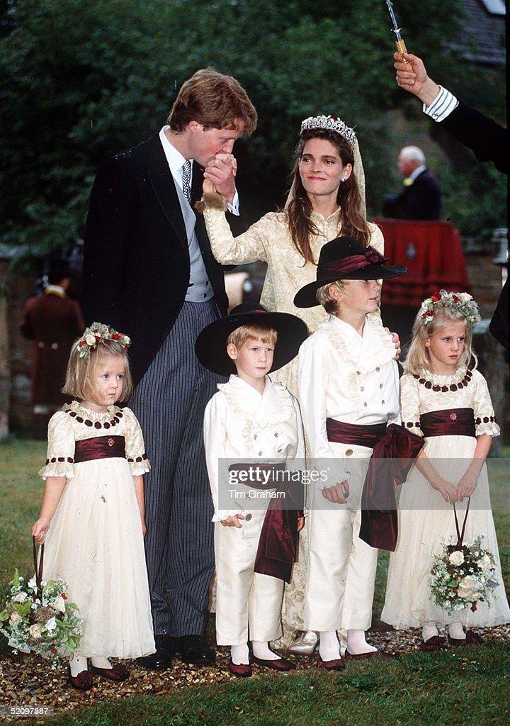 Charles Spencer Wedding : News Photo