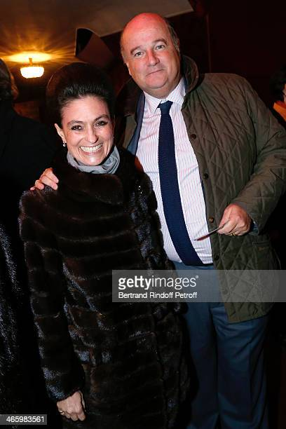 Viscount and Viscountess Jean d'Indy attend 'Un Temps De Chien' Theater Gala Premiere to Benefit ARSEP Foundation Held at Theatre Montparnasse on...