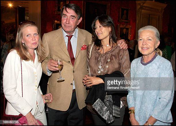 Viscount and Viscountess of Noailles Countess Charles La Haye Jousselin Countess Jacques of Orleans at Opening Exhibition Of Joy De Rohan Chabot Les...