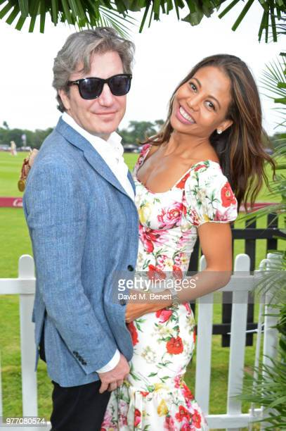 Viscount and Viscountess Weymouth attend the Cartier Queen's Cup Polo Final at Guards Polo Club on June 17 2018 in Egham England