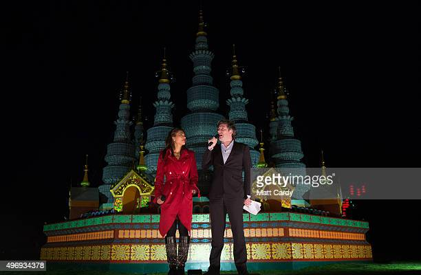 Viscount and Viscountess Weymouth open the Festival Of Light VIP preview evening in the grounds at Longleat on November 12 2015 in Wiltshire England...