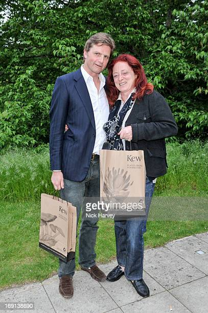 Viscount Cawdor and Camilla Lowther attend Rory McEwen The Colours of Reality at Kew Gardens on May 20 2013 in London England