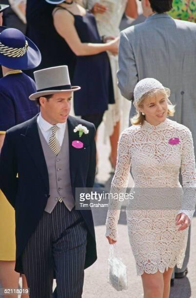 Viscount David And Viscountess Serena Linley At Ascot Races Serena's Dress Is By Designer Hervey Leger