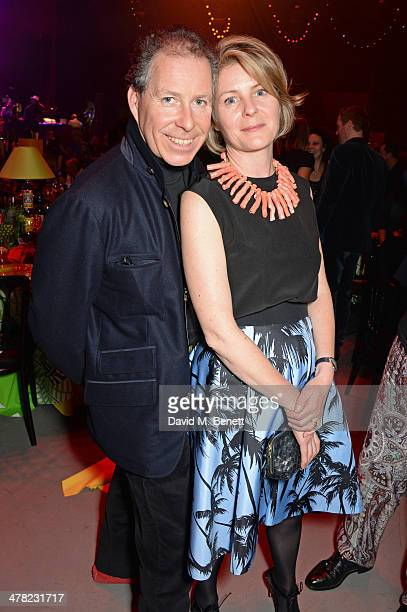 Viscount David Linley and Viscountess Serena Linley attend A Night of Reggae hosted by Helena Bonham Carter for Save The Children UK at The...