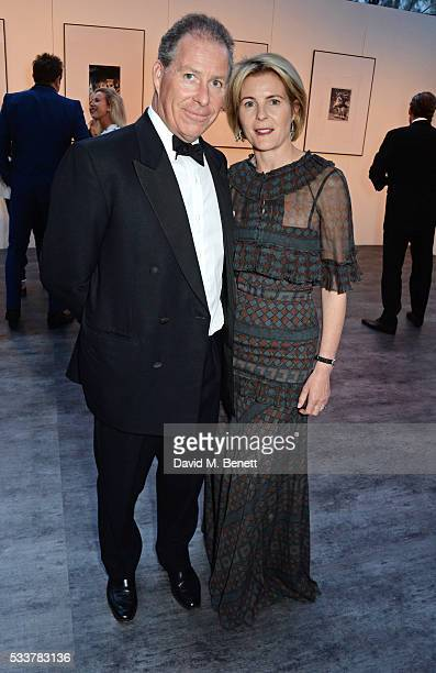 Viscount David Linley and Viscountess Serena Linley attend British Vogue's Centenary gala dinner at Kensington Gardens on May 23 2016 in London...