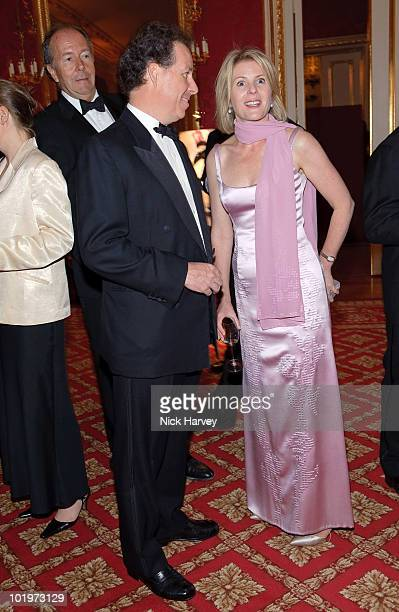 Viscount David Linley and Viscountess Serena Linley attend the 75th Aniversary Dinner Of Chateau HautBrion And Clarence Dillon at Lancaster House on...