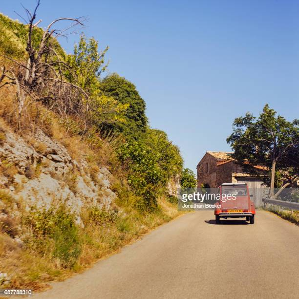 Viscount David Linley, the second Earl of Snowdon's Citroën Deux Chevaux, Tintin is photographed for Vanity Fair Magazine on July 13, 2016 in...