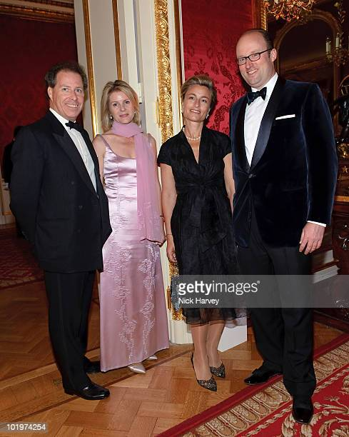 Viscount David Linley Viscountess Serena Linley Princess Julie of Nassau Prince Robert of Luxembourg attend the 75th Aniversary Dinner Of Chateau...