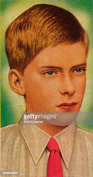 Viscount Lascelles, 1935. George Lascelles, the eldest son of Henry Lascelles, 6th Earl of Harewood, and Mary, Princess Royal. Ardath cigarette card,...