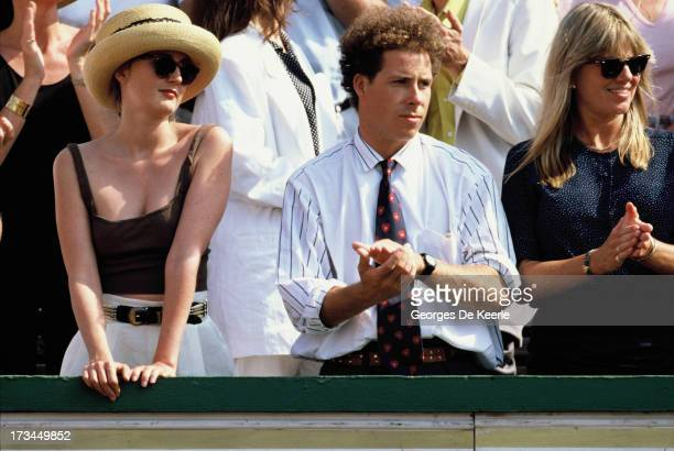 Viscount Linley attends the final match of the Stella Artois Championships held at the Queen's Club, between Ivan Lendl and Christo van Rensburg on...