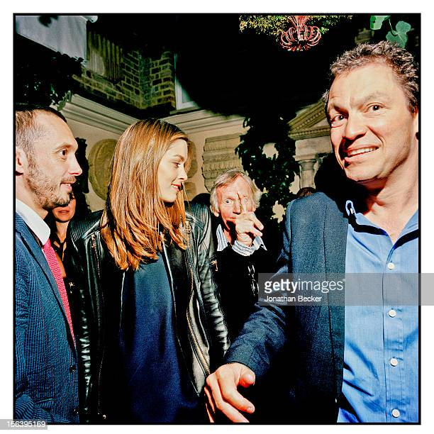 Viscount Macmillan of Ovenden, friend and Dominic West are photographed at 5 Hertford Street, which is home to the nightclub Loulou's for Vanity Fair...