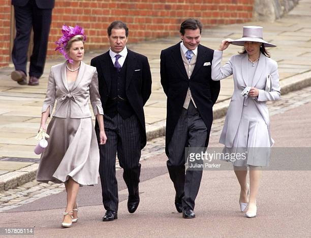 Viscount Viscountess Linley And Lady Sarah Daniel Chatto Attend The Wedding Of Hrh The Prince Of Wales Mrs Camilla Parker Bowles At St George'S...