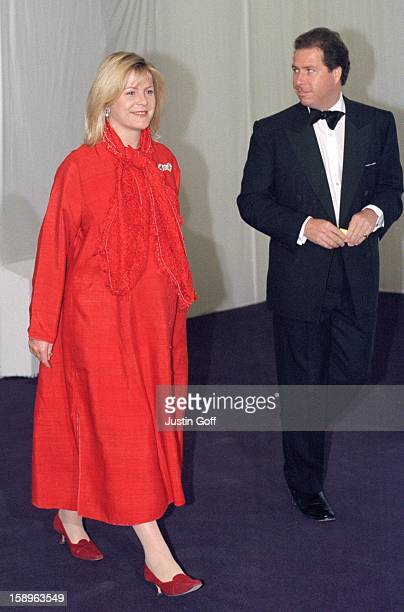 Viscount Viscountess Linley Attend The 'Diamonds Are Forever' Gala Fashion Show In London