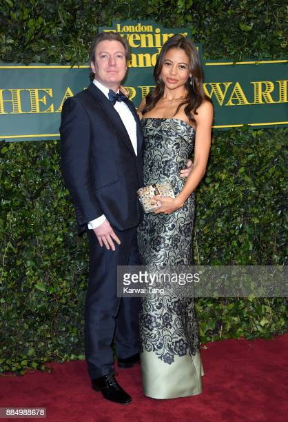 Viscount Weymouth and Emma McQuiston attend the London Evening Standard Theatre Awards at Theatre Royal on December 3 2017 in London England