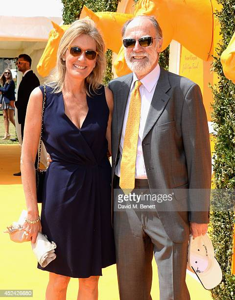 Viscountess and Viscount Cowdray attend the Veuve Clicquot Gold Cup Final at Cowdray Park Polo Club on July 20 2014 in Midhurst England