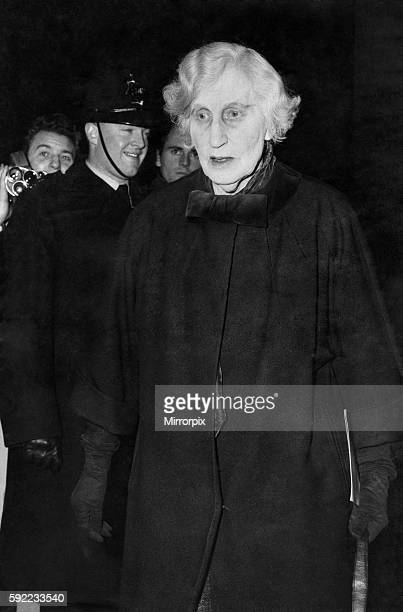 Viscountess Asquith the former Lady Violet Bonham Carter to see Sir Winston January 1965 P016865