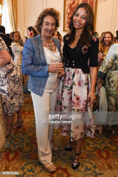 Viscountess Emma Weymouth and guest attend the Foreign Sisters annual lunch held at The Landmark Hotel on May 10 2018 in London England