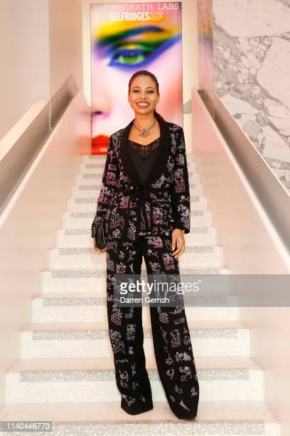 Viscountess Emma Weymouth attends the Pat McGrath 'A Technicolour Odyssey' Campaign launch party at Brasserie of Light Selfridges on April 04 2019 in...