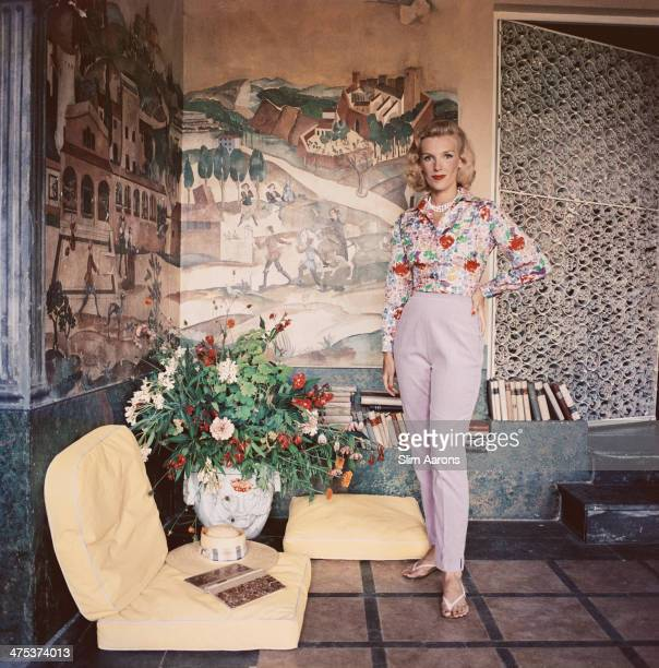 Viscountess Harriet de Rosiere at Mougins near Cannes in France 1957