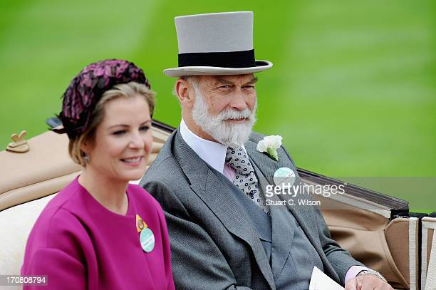 Viscountess Linley Prince Michael Of Kent attends day one of Royal Ascot at Ascot Racecourse on June 18 2013 in Ascot England