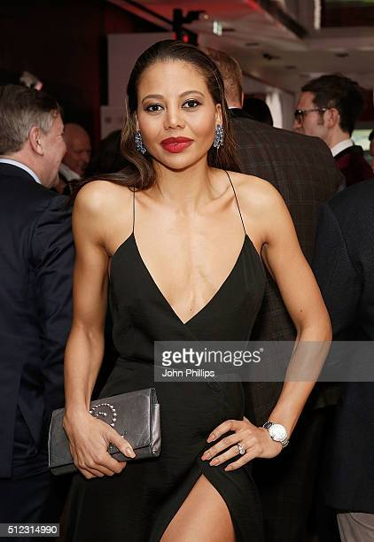 Viscountess of Weymouth Emma McQuiston attends the UK launch of the Ferrari 488 Spider at Watches of Switzerland on February 25 2016 in London England