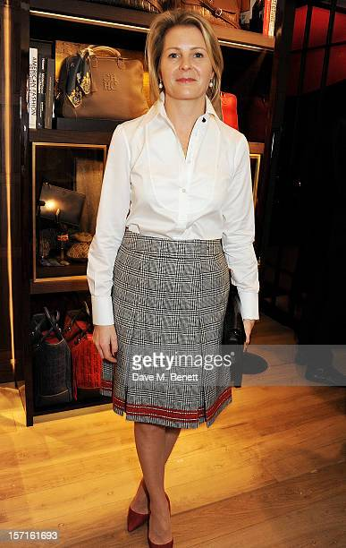 Viscountess Serena Linley attends the launch of CH Carolina Herrera's White Shirt Collection at their new Fulham Road store on November 29 2012 in...