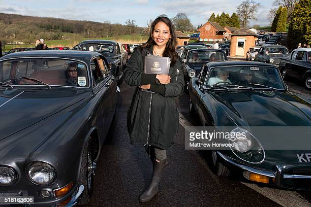 Viscountess Weymouth Emma McQuiston welcomes visitors at Longleat on March 30 2016 in Wiltshire England This year Longleat marks the 50th anniversary...